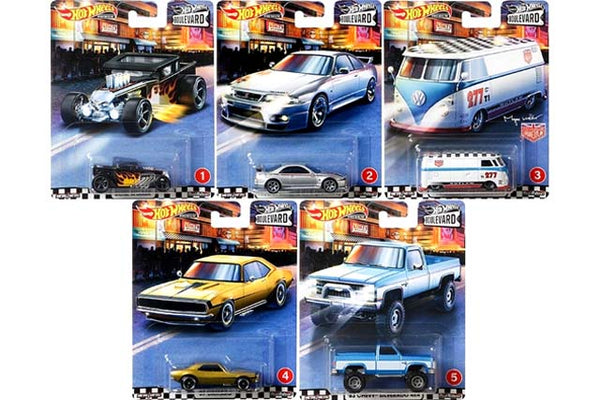 Hotwheels Boulevard 2020 Mix A Set of 5
