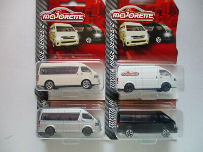 Majorette 1:64 Scale Thailand Exclusive Toyota Hiace Set of 4