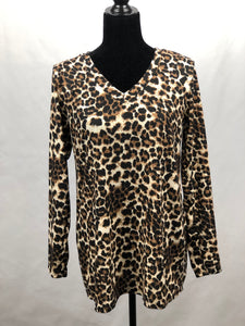 Leopard Print V-Neck Top