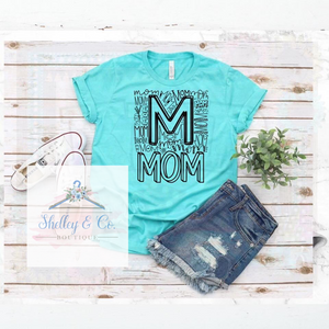 Mom Typography T-Shirt-Adult