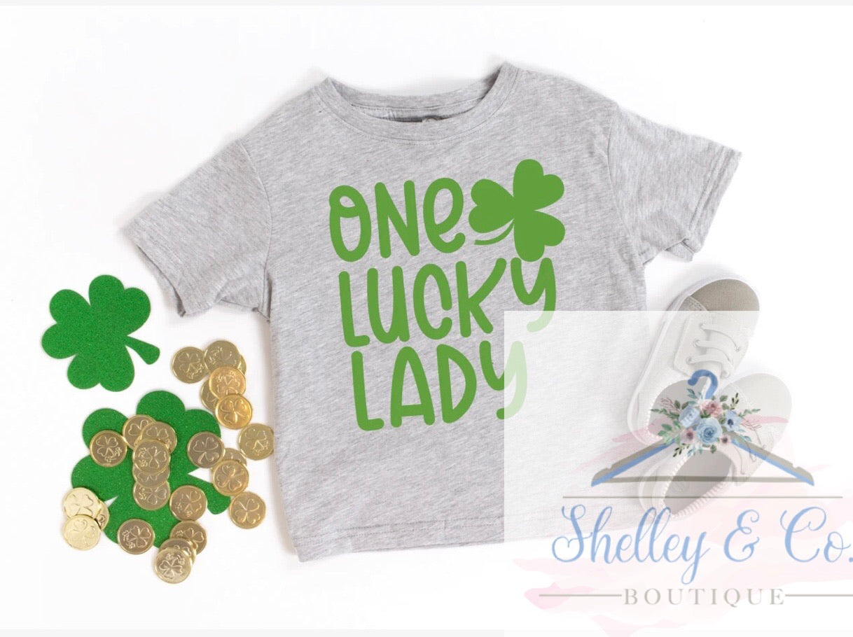 One Lucky Lady T-Shirt-Youth