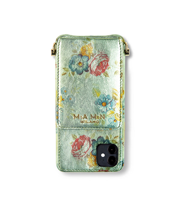 Fiore Romantica – iPhone 12 mini Case aus edlem Ziegenleder