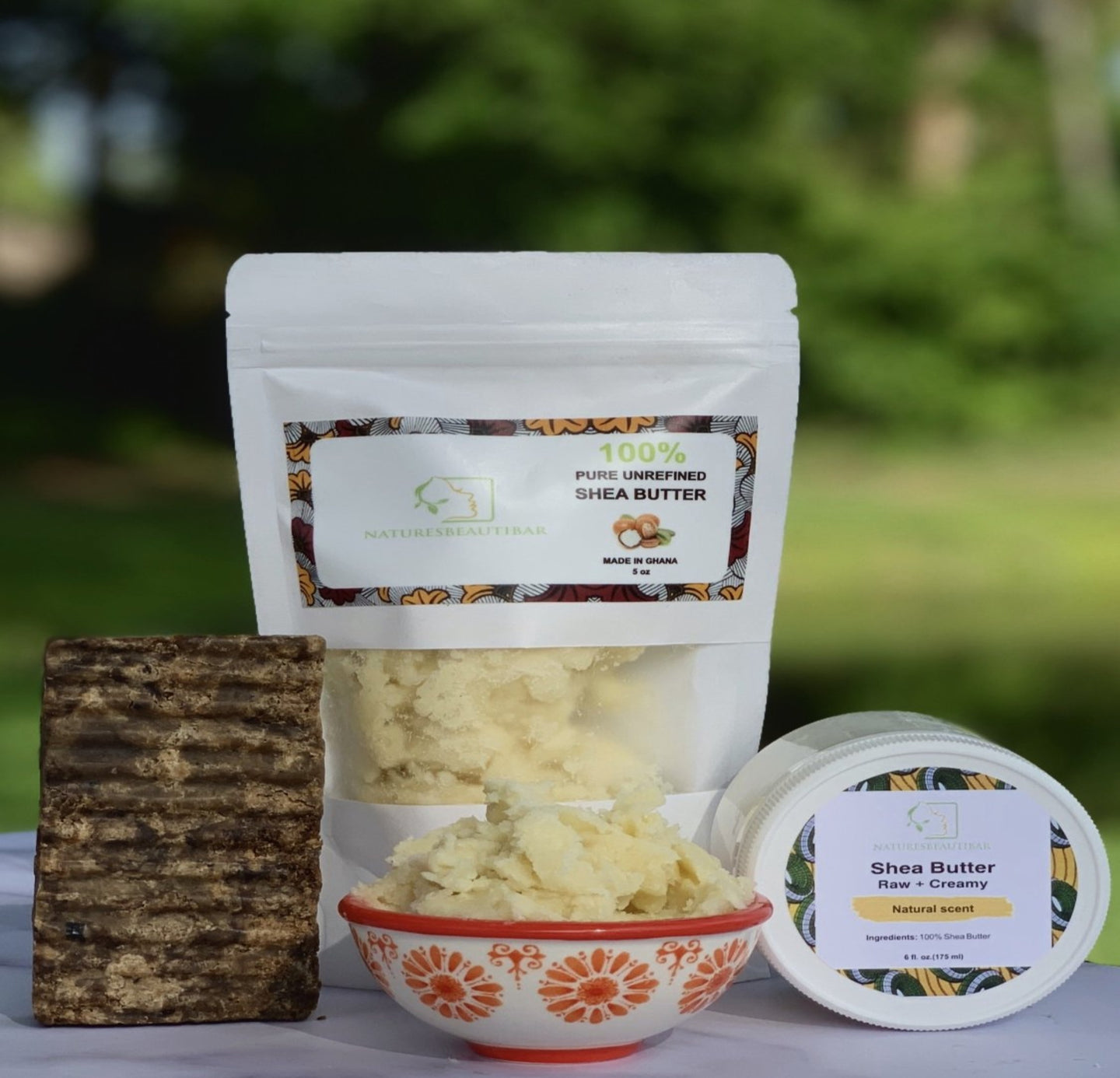 Pure Shea Butter + Raw Creamy + Authentic African Black Soap + 1 Sample Soap