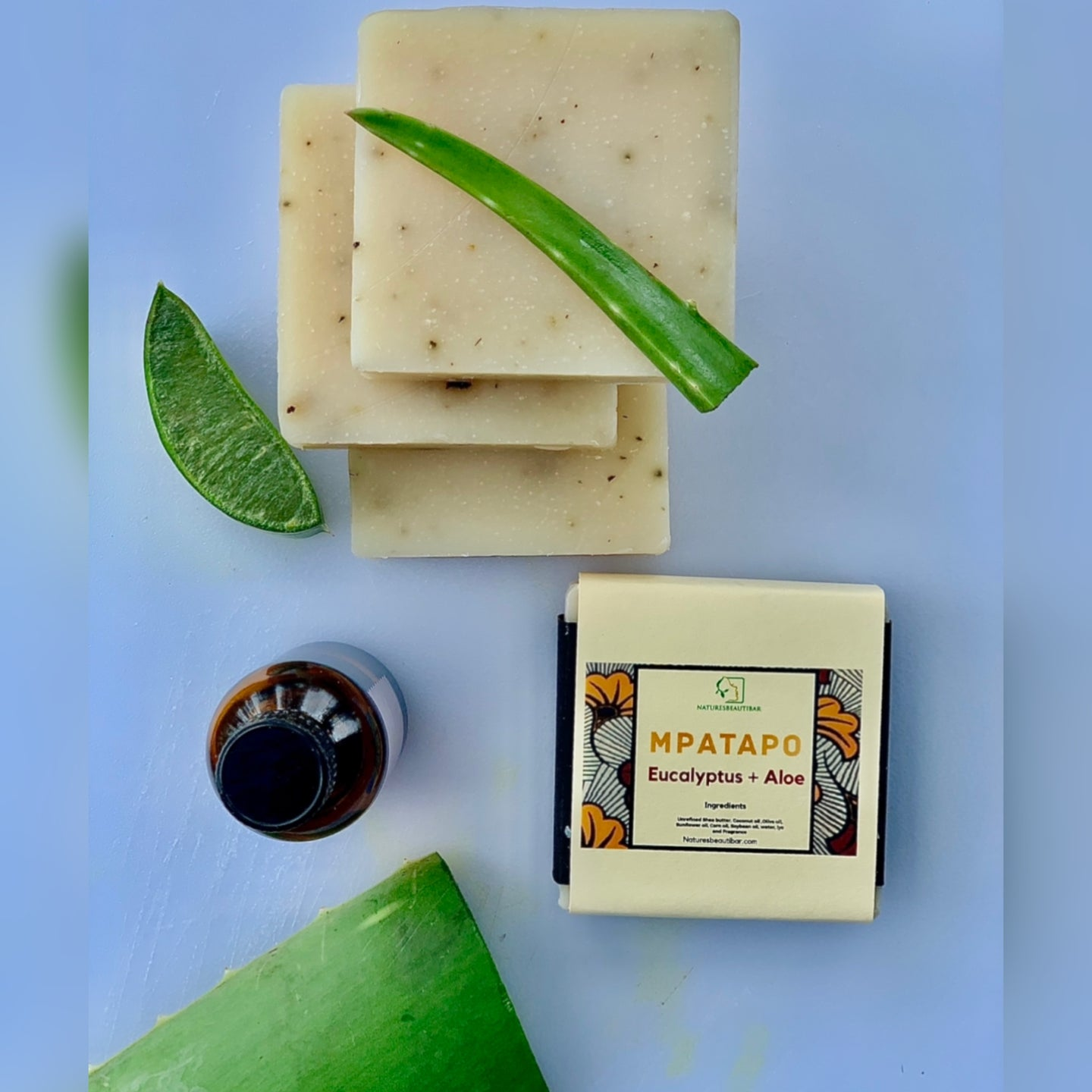 Mpatapo Soothing Eucalyptus + Aloe Natural Soap Bar