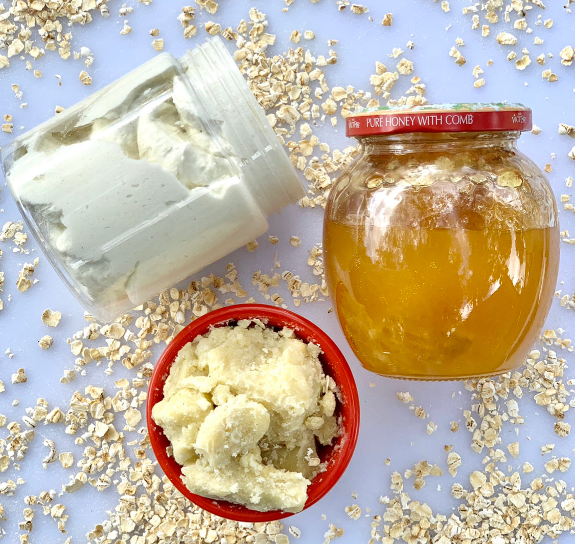 Oatmeal & Honey Scented Raw Shea Butter