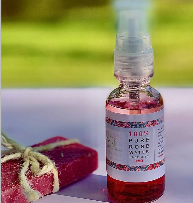 100% Pure Rose Water - naturesbeautibar