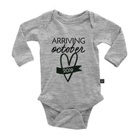 Arriving {month, year} Annoucement Onesie