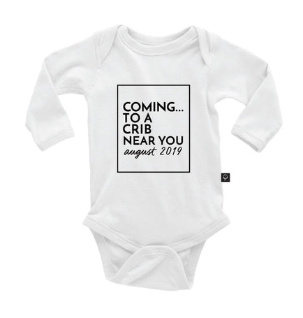 Coming to a Crib Near You {month, year} Onesie
