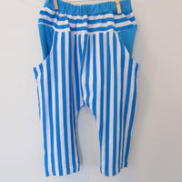 Zebra Blue/White Set Size 4