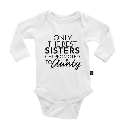Only the Best Sisters get Promoted to Aunty Onesie