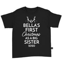 Personalised First Christmas As A Big Sister 2020 T-Shirt
