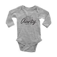 Saw it Wanted it Called my Aunty Got it Onesie