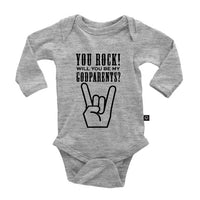You Rock, Will you be my Godparents? Onesie