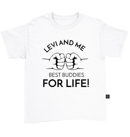Personalised Children Best Buddies For Life T-Shirt