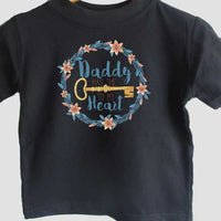 My daddy has the key to my heart - t-shirt