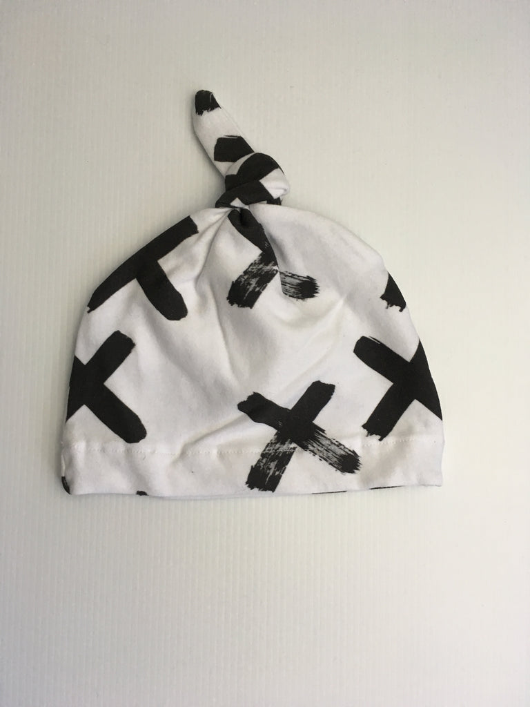 Matching black paint cross beanie