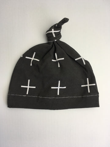 Matching white cross beanie