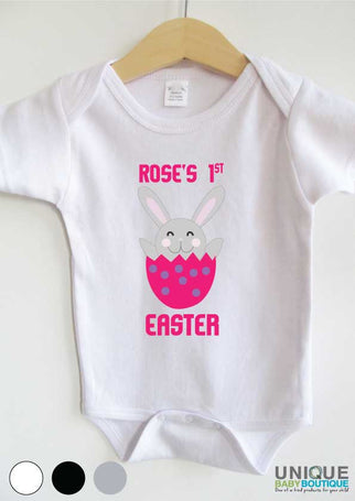 {name} 1st Easter bunny pink