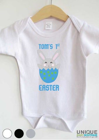 {name} 1st Easter bunny blue