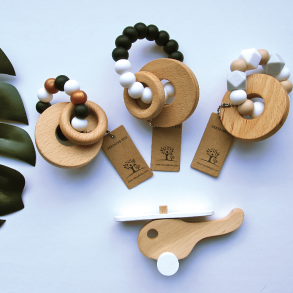 Teether Toy with Beech Rings