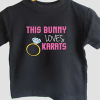 This bunny loves karats t-shirt