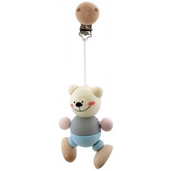 Hess-Spielzeug Bear Clip Figure Natural