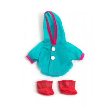 Raincoat and Gum Boots 21 cm Doll Outfit