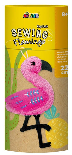 Sewing Key Chain Flamingo