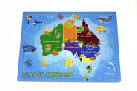 2 in 1 Australian Map Wooden Jigsaw Puzzle