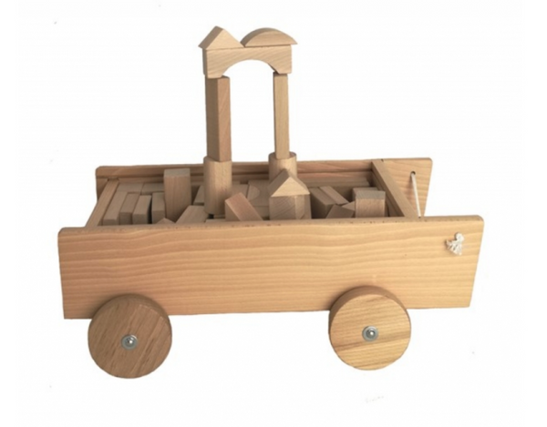 Egmont Pull Along Truck with Wooden Blocks