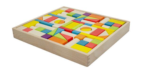 74 piece Wooden Block Tray
