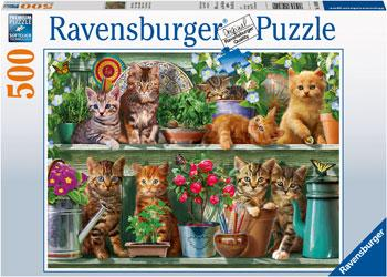 Ravensburger 500 Pc Puzzle Cats On The Shelf