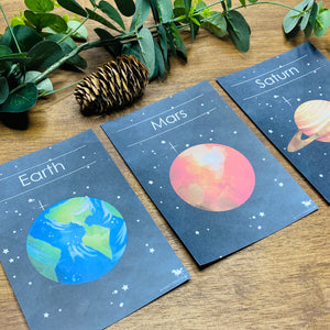 SPACE FLASH CARDS