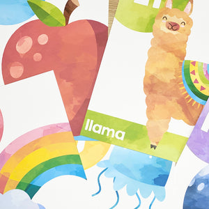 RAINBOW WATERCOLOUR ALPHABET POSTERS