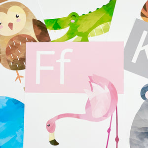 WATERCOLOUR ALPHABET POSTERS