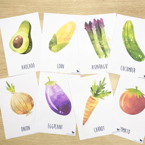 VEGETABLE FLASH CARDS