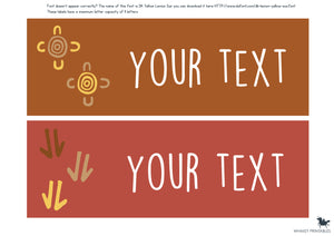 ABORIGINAL STYLE CLASSROOM SIGNS AND LABELS PACK