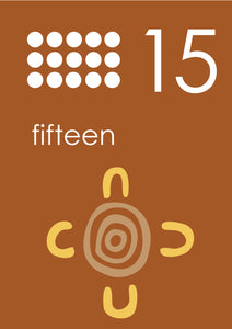 ABORIGINAL STYLE NUMBER POSTERS