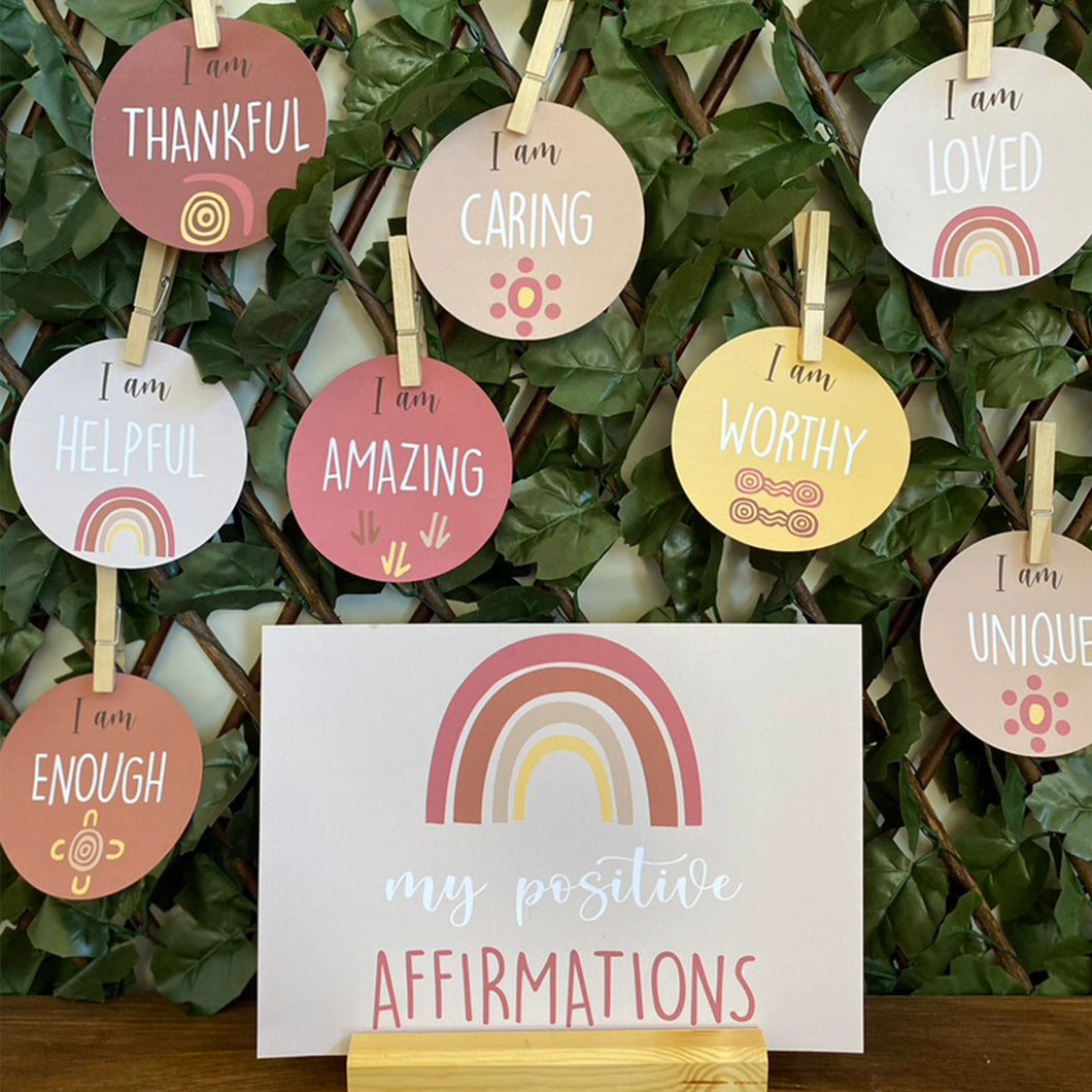ABORIGINAL STYLE POSITIVE AFFIRMATIONS DISPLAY