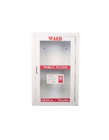 COMBINATION ALARMED WALL CABINET FOR AED AND COMPREHENSIVE OR MOBILE RESCUE SYSTEM