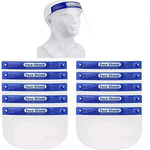 Cypress GDF-01 Face Shield One Size Fits Most Full Length Anti-fog Disposable Non-Sterile- 10 pcs