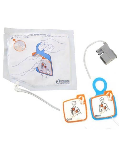 CARDIAC SCIENCE POWERHEART G5 AED INTELLISENSE PEDIATRIC DEFIBRILLATION PADS   XELAED003A