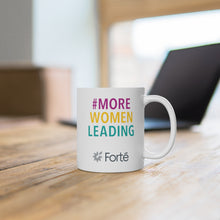 Load image into Gallery viewer, #MoreWomenLeading White Ceramic Mug