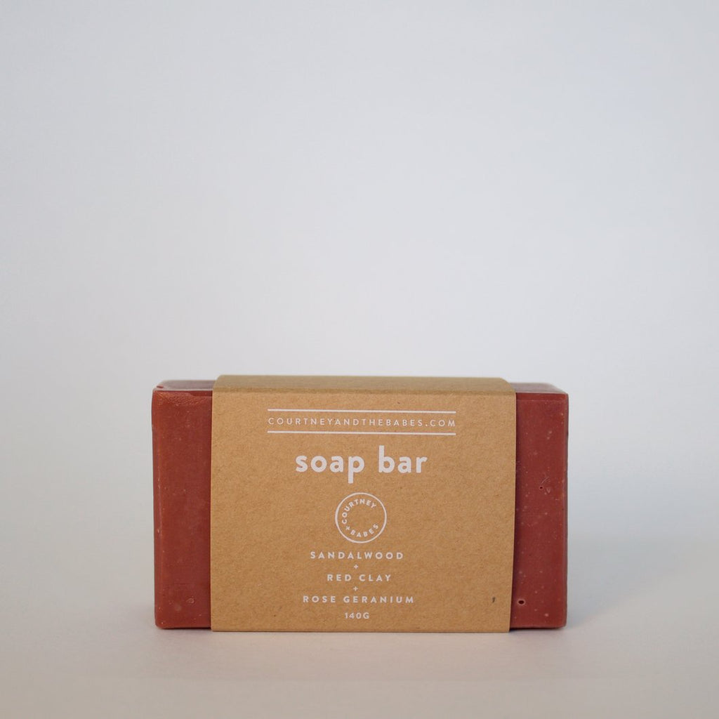 COURTNEY AND THE BABES - Red Clay Soap Bar