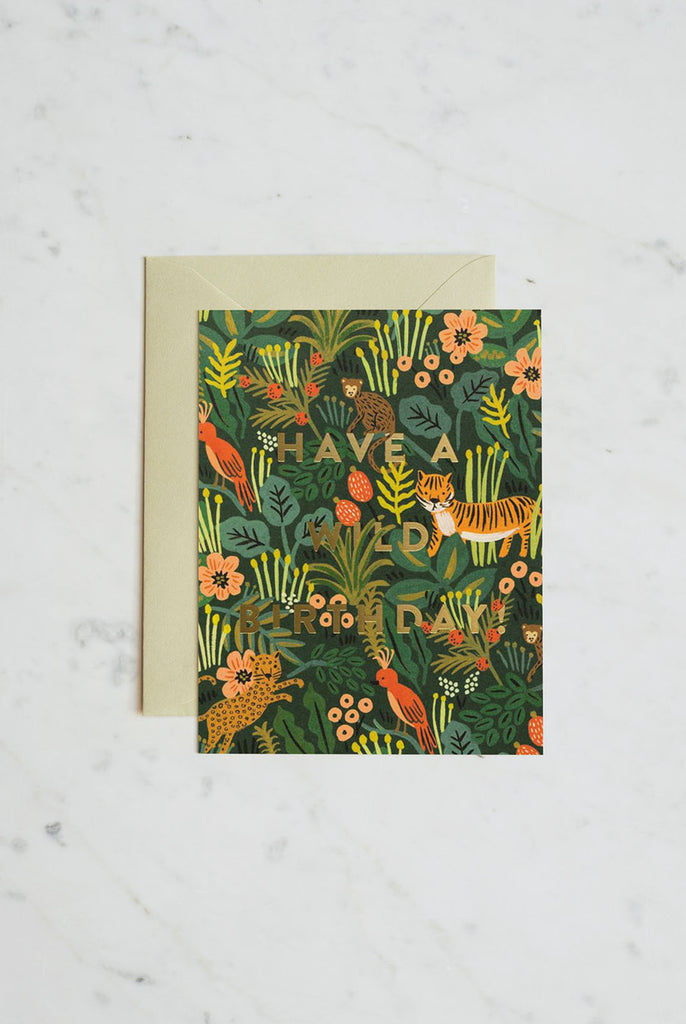 RIFLE PAPER CO - WILD BIRTHDAY single card
