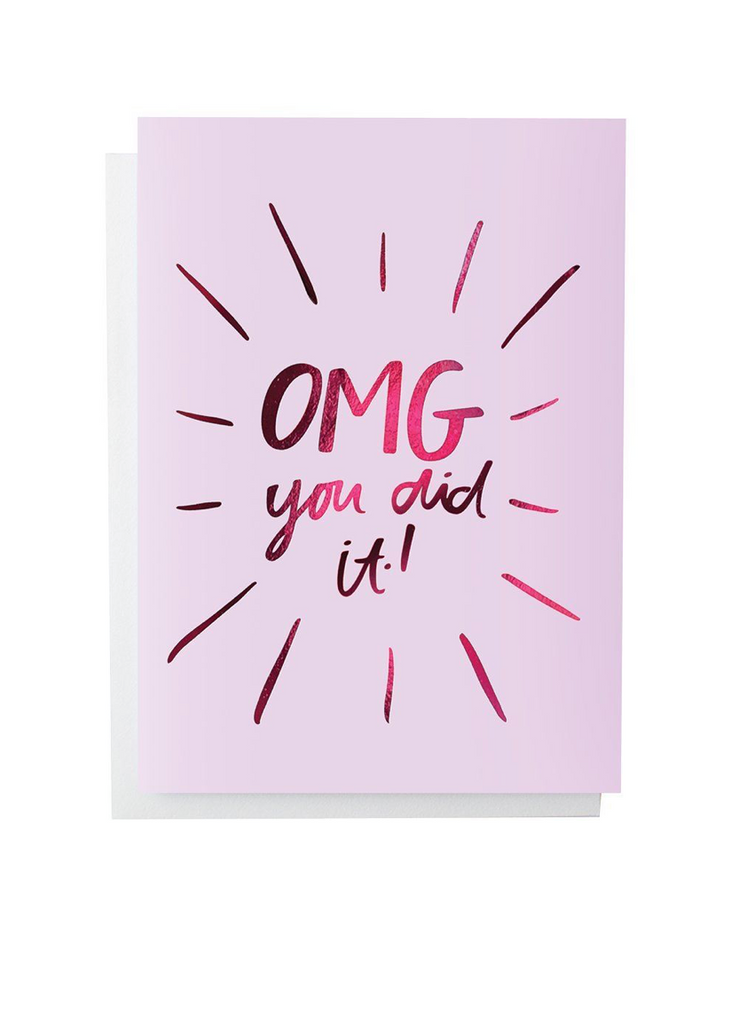 BLUSHING CONFETTI - OMG YOU DID IT single card