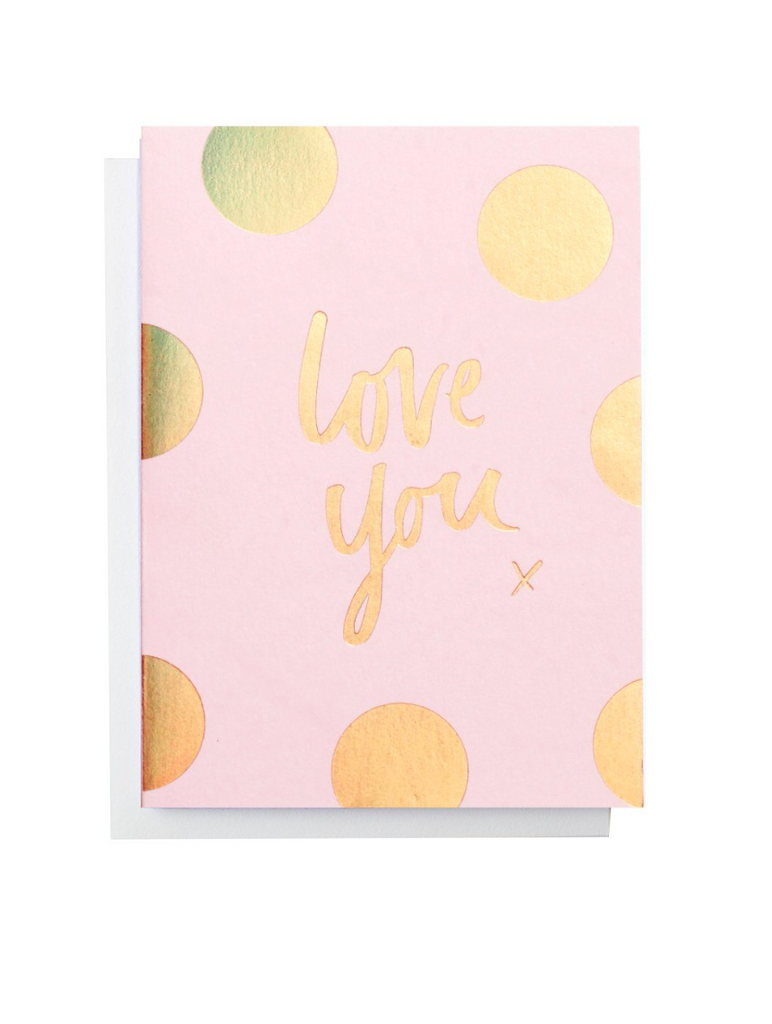 BLUSHING CONFETTI - LOVE YOU single card