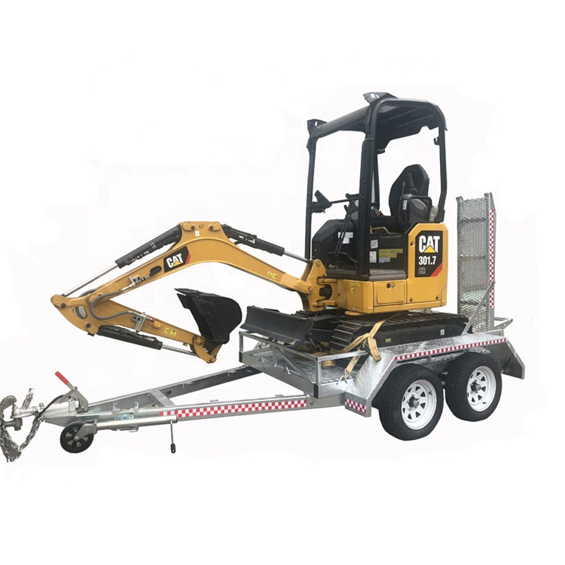 2Ton Tandem Axle Mini Excavator Trailer with Ramp