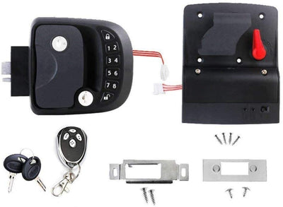 Keyless Entry Door RV Lock Handle Latch with Remote Controller and keypadFor Caravan Camper Trailer