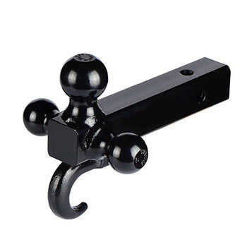 High quality 3-position trailer single hitch ball mount supplier with hook Triple 3 Ball Trailer Hitch Receiver Mount